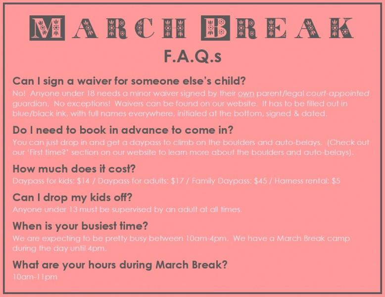 MarchBreakFAQs