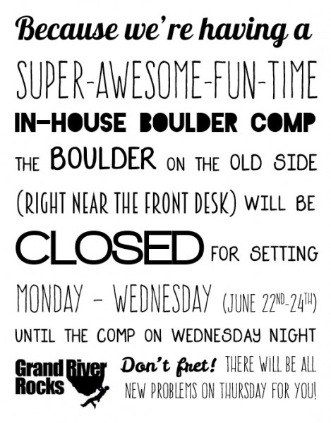 boulderCLOSED