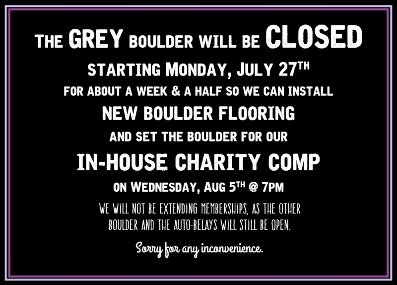 July 20 2015 - boulder closed