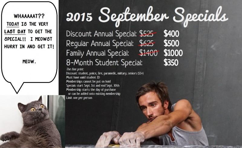 September Specials 2015- LASTDAY