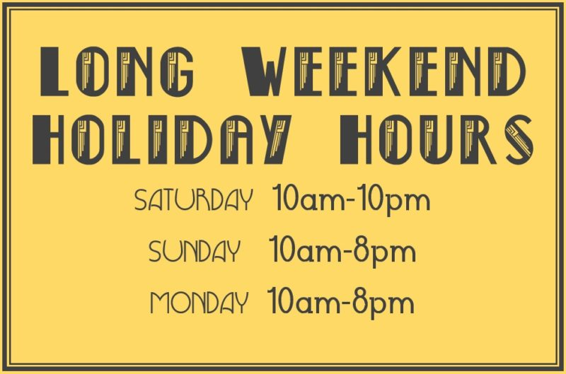 holiday hours - monday10-8