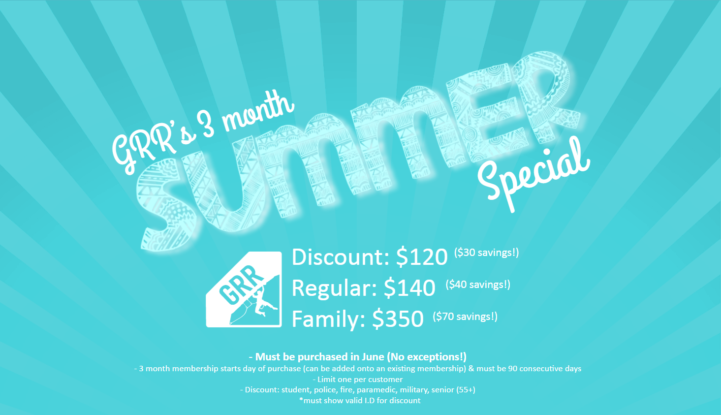 Summer Special Time! - Grand River Rocks Climbing Gym