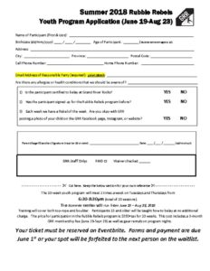 thumbnail of Summer 2018 Application Form